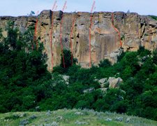 Rock Climbing Photo: siltstone splitters