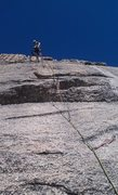 Rock Climbing Photo: Just beyond the crux on Moonlight Madness