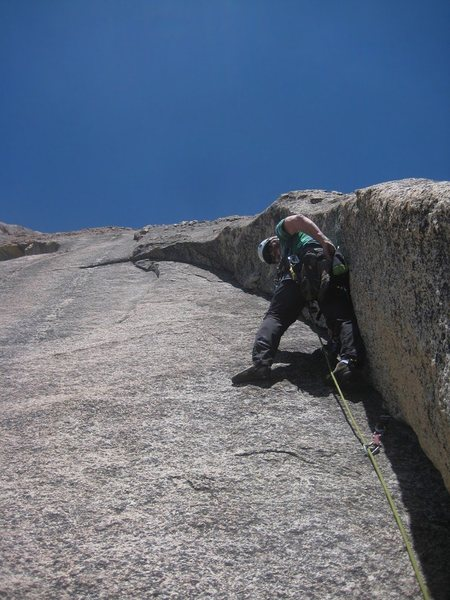 Rock Climbing Photo: Start of the 2nd pitch on Crossing the Milky Way 5...