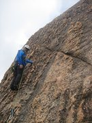 Rock Climbing Photo: The wonderful Knob Gobbler pitch on Crossing the M...