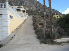 Rock Climbing Photo: The path to the area is next to the house in the p...
