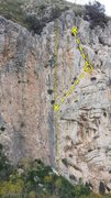 "Rock Climbing Photo: The traversing route ""Variante dei Traversi&q..."