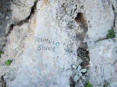 Rock Climbing Photo: The name of the route.