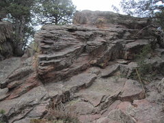 Rock Climbing Photo: West Sentinel from the Royal Arch Trail, East face...