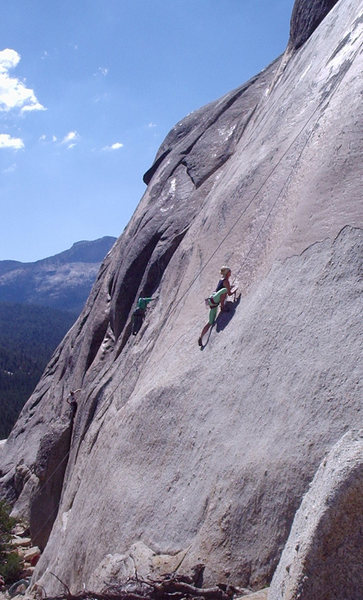 Rock Climbing Photo: Paris Wages on Hogwash, South Flank of Daff Dome