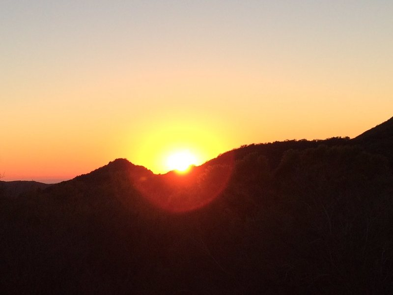 Sunset over the Santa Monica Mountains.