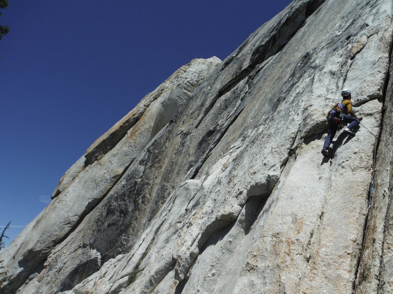 Eric Collins leading 1st Pitch of Excellent Smithers on Medlicott Dome
