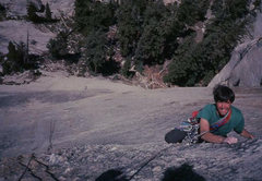 Rock Climbing Photo: Eric Collins on Crescent Arch, Daff Dome