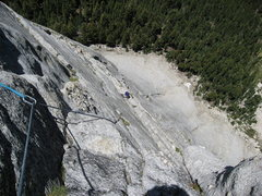 Rock Climbing Photo: High up on Fairview Regular Route, photo by Tom Ro...