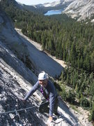 Rock Climbing Photo: Dozier Dome with Tenaya Lake, photo by Tom Rogers