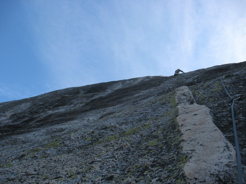 Rock Climbing Photo: Tom Rogers leading Felsic on Dozier Dome
