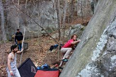 Rock Climbing Photo: Pulling through the beginning moves.