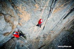 Rock Climbing Photo: The traverse pitch.