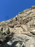 Rock Climbing Photo: Paul Heyliger at the crux.