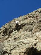 Rock Climbing Photo: Paul beginning the crux.