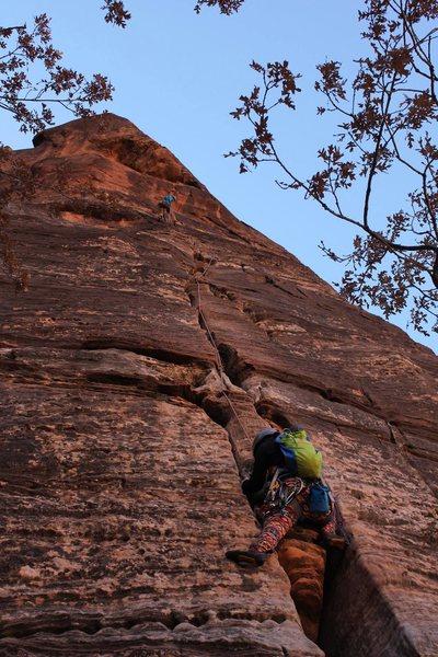 Rock Climbing Photo: following