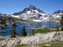 Rock Climbing Photo: Banner Peak and Thousand Island Lake.