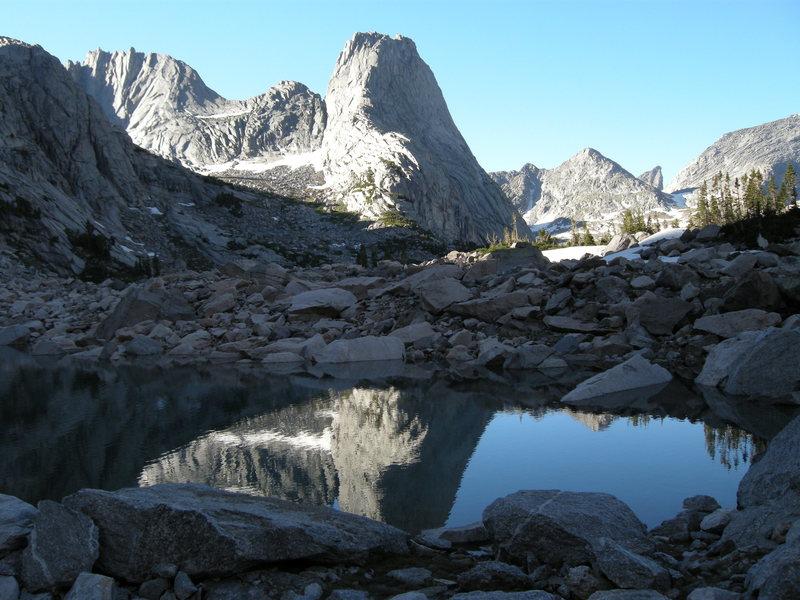 Rock Climbing Photo: Pingora reflection.