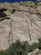Rock Climbing Photo: Rope hanging on The Reuben Hair Shift.  Lin Murphy...