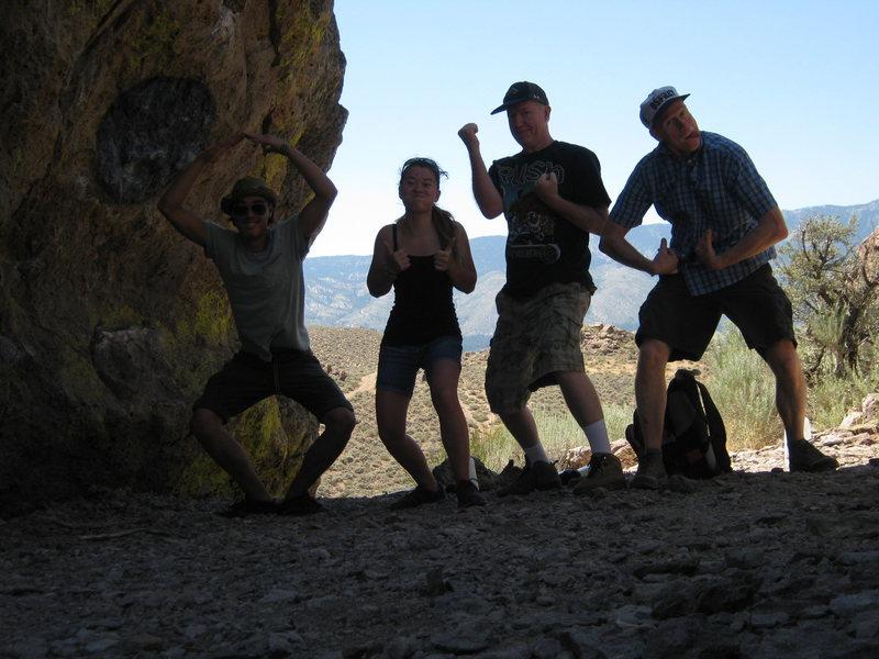 my peeps after bouldering Carson Boulders