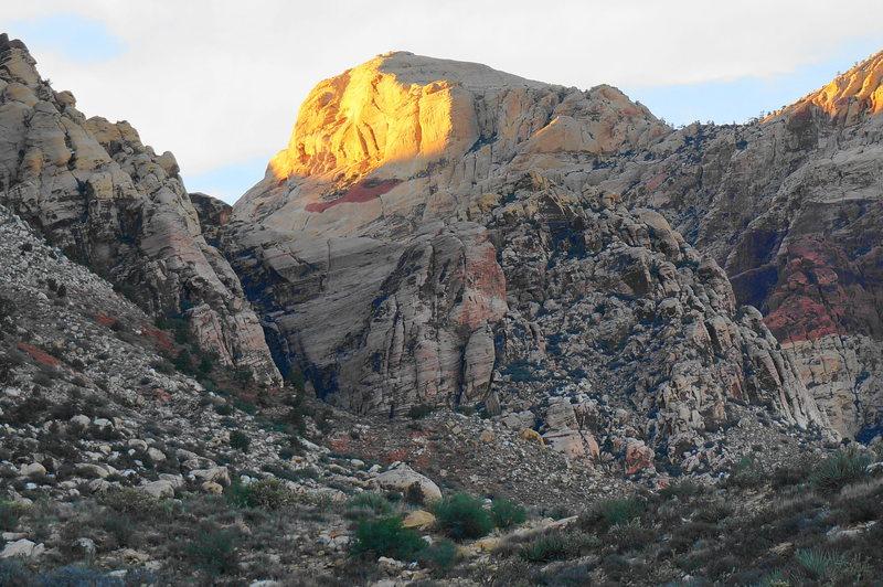 Rock Climbing Photo: sun