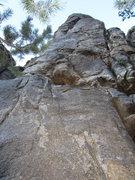 Rock Climbing Photo: Front view;  Sooo Sweeet follows left skyline crac...