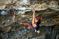 Rock Climbing Photo: Anthea Yur right before the rose move on Natural S...
