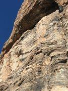 Rock Climbing Photo: EFR pulling hard.