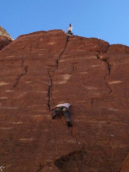 Rock Climbing Photo: stinky following. fun lead!!