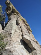 Rock Climbing Photo: Looking up at the start of Sob Story; first bolt m...