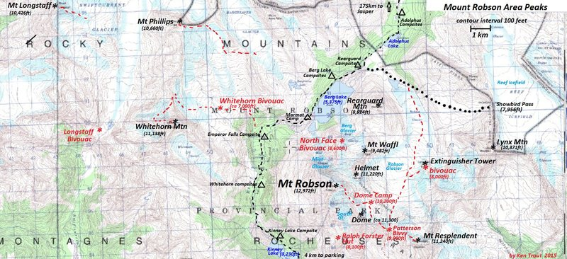 Rock Climbing Photo: Mt Robson Area