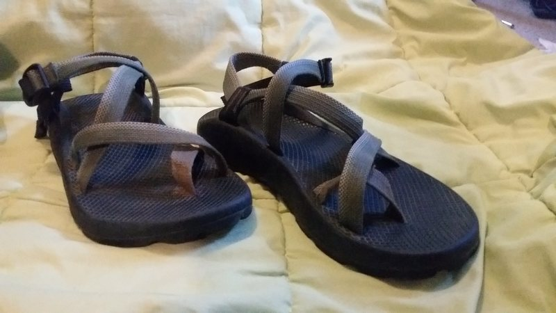 very lightly used chacos with toe strap. size 11.