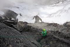 Rock Climbing Photo: goin' down