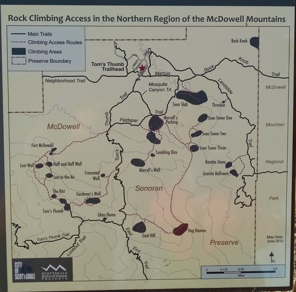 Rock Climbing Photo: McDowell Mountains Trail Map