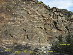 Rock Climbing Photo: Rivendell Center-Right Topo I think I tagged all t...