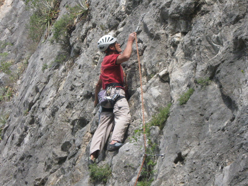 Ed climbing with us in 2011