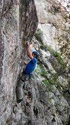 Rock Climbing Photo: Aaron on the FA