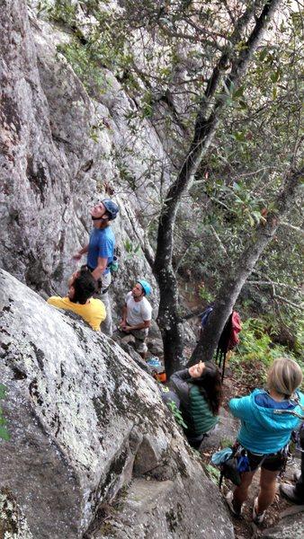 Rock Climbing Photo: FA party