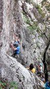Rock Climbing Photo: Aaron at the start