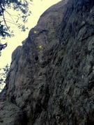 Rock Climbing Photo: lower portion of route