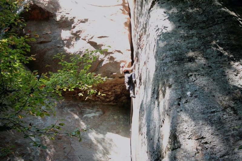Rock Climbing Photo: Arachnid, 5.8. Gotta go back and try the #4 big br...