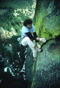 Rock Climbing Photo: Pat Adams on-sight.