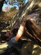 Rock Climbing Photo: In the crux. Photo credit Graham Davis