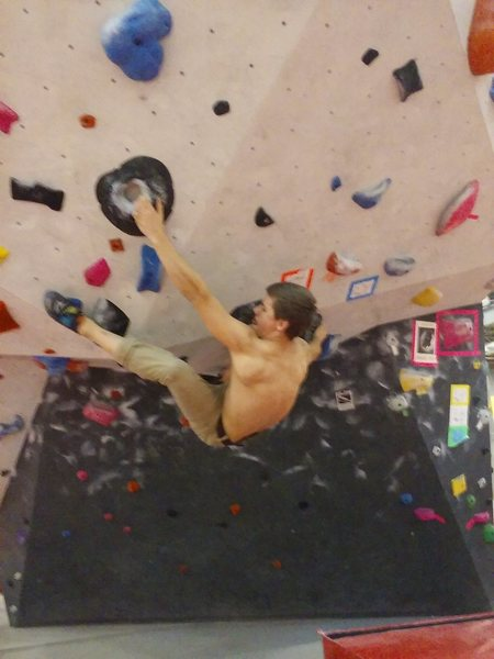 Rock Climbing Photo: Projecting a V9