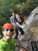 Rock Climbing Photo: Hangin' out with friends while taking their engage...