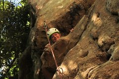 Rock Climbing Photo: Leading in Muir Valley