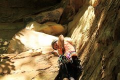 Rock Climbing Photo: Trad Leading in RRG