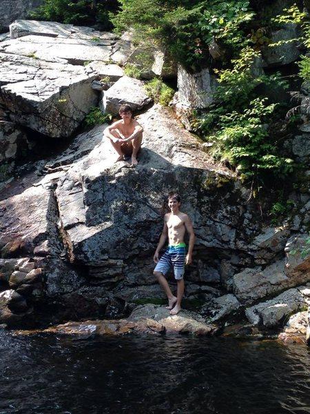 Rock Climbing Photo: Franconia Notch