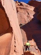 Rock Climbing Photo: Running it out for onsight