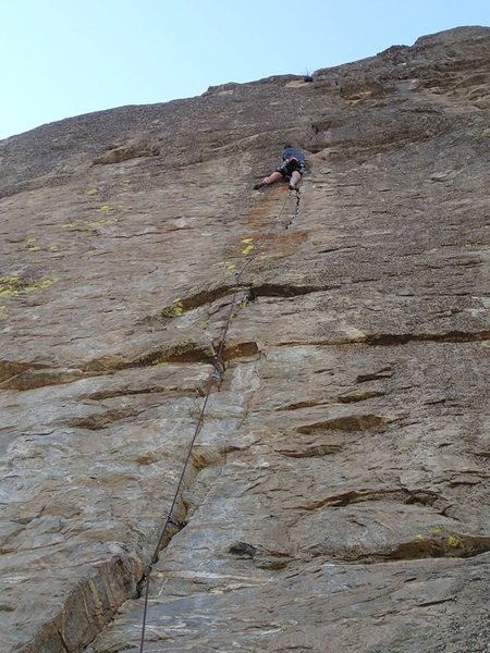 Rock Climbing Photo: Eli almost a third of the way up the route on the ...